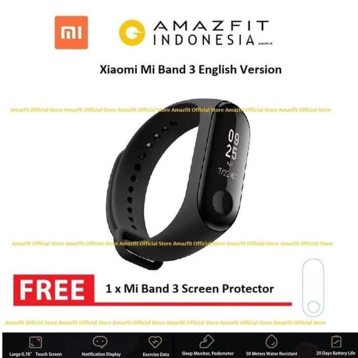 MURAH Xiaomi Mi Band 3 ORI Smart Watch Bracelet Smartwatch M
