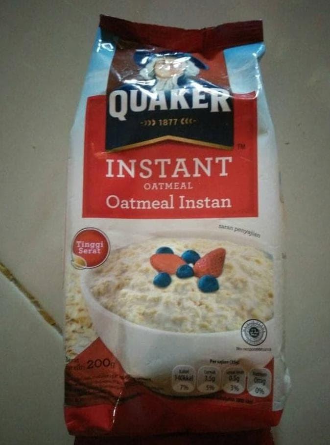Jual Hot List Quaker Oat Meal Instan 200gr Makanan Kesehatan Kab