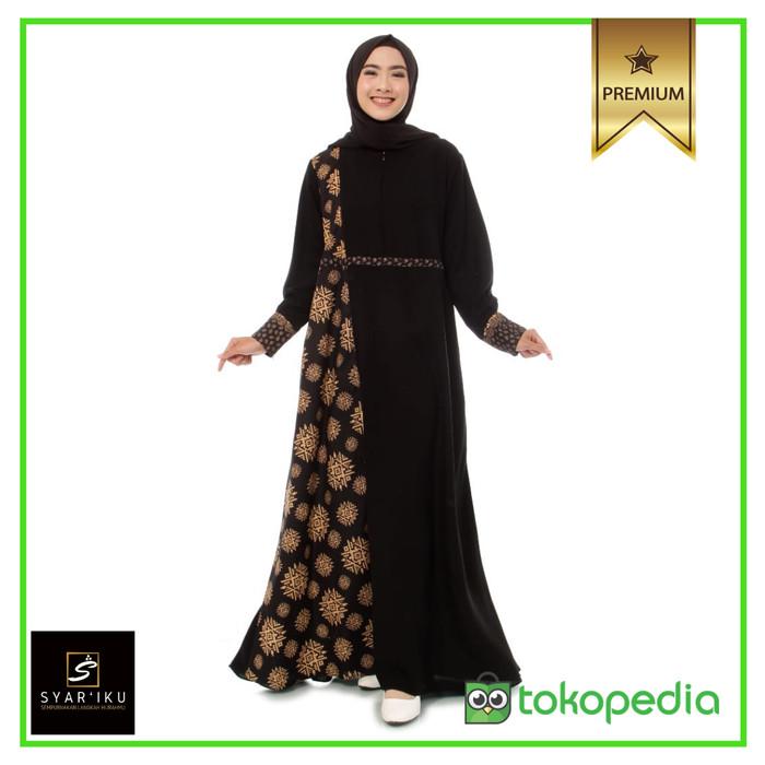 Jual Gamis Polos Syari Akhwat Kombinasi Batik Khimar Halimah Syar Iku Kota Tasikmalaya Gamis Syar I Set Khimar Tokopedia