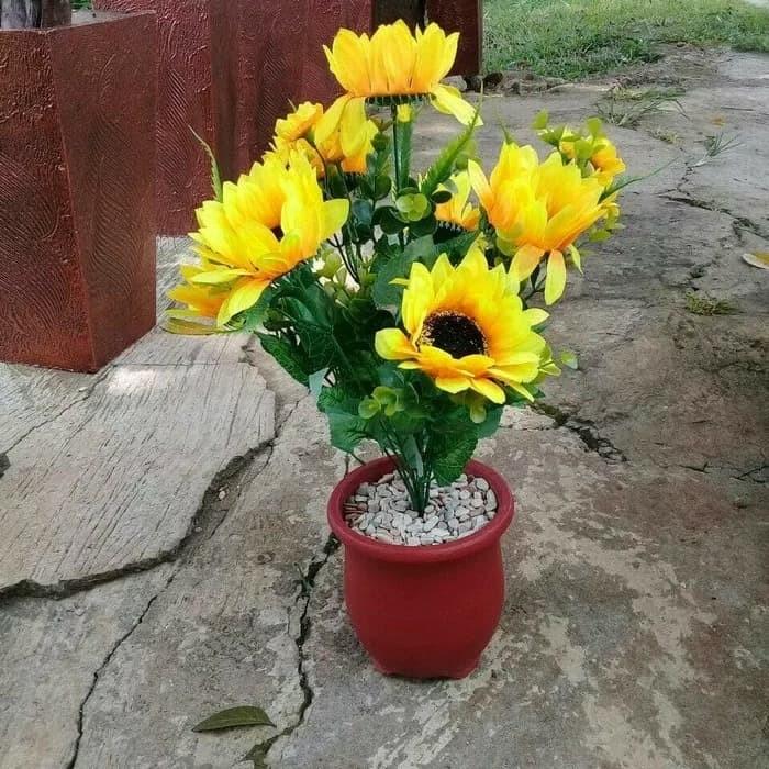 Jual Bunga Matahari Bunga Plastik Kota Bogor Toko Bunga Chacha Tokopedia