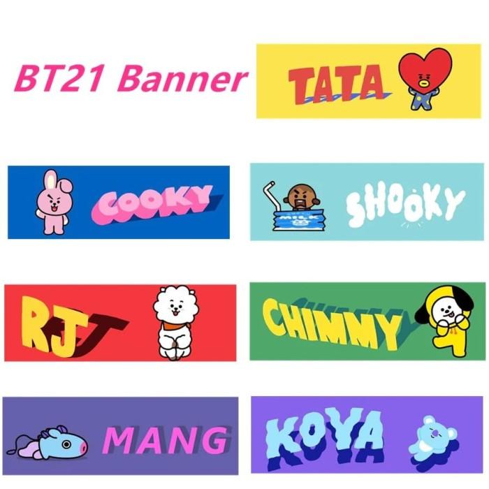 Jual KPOP Hand Banner Slogan Konser BTS BT21 Blackpink Twice - DKI Jakarta  - THE_CHOCOSHOP | Tokopedia