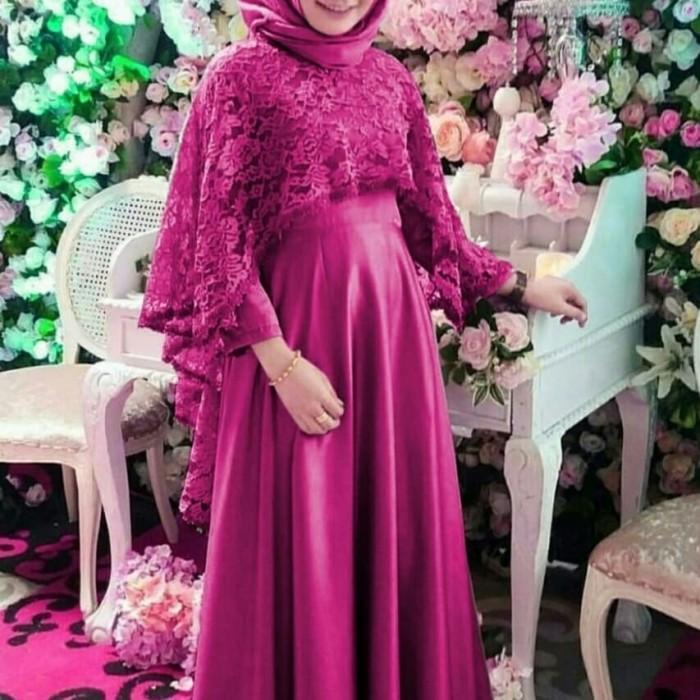 Jual Gamis Brukat Brokat Warna Pink Fanta Kota Surabaya Randian Tokopedia