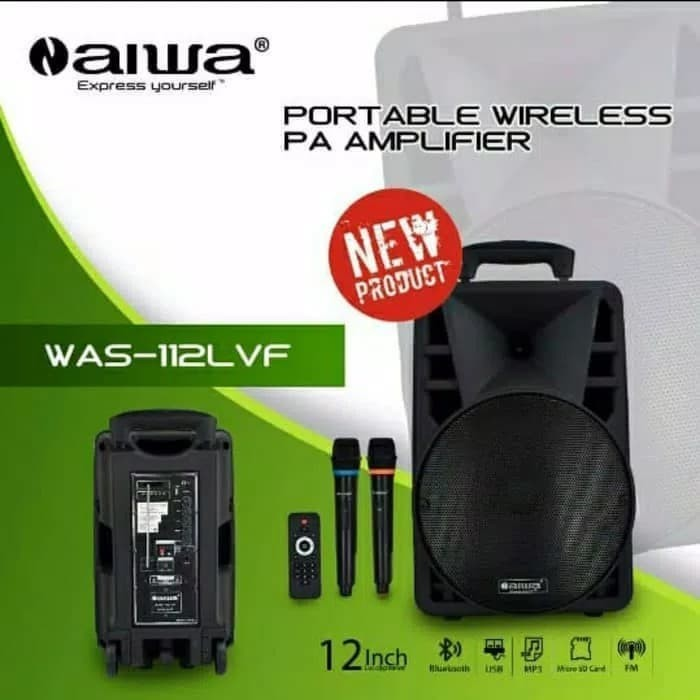 harga Speaker portable bluetooth 12 inch - aiwa was-112lvf Tokopedia.com