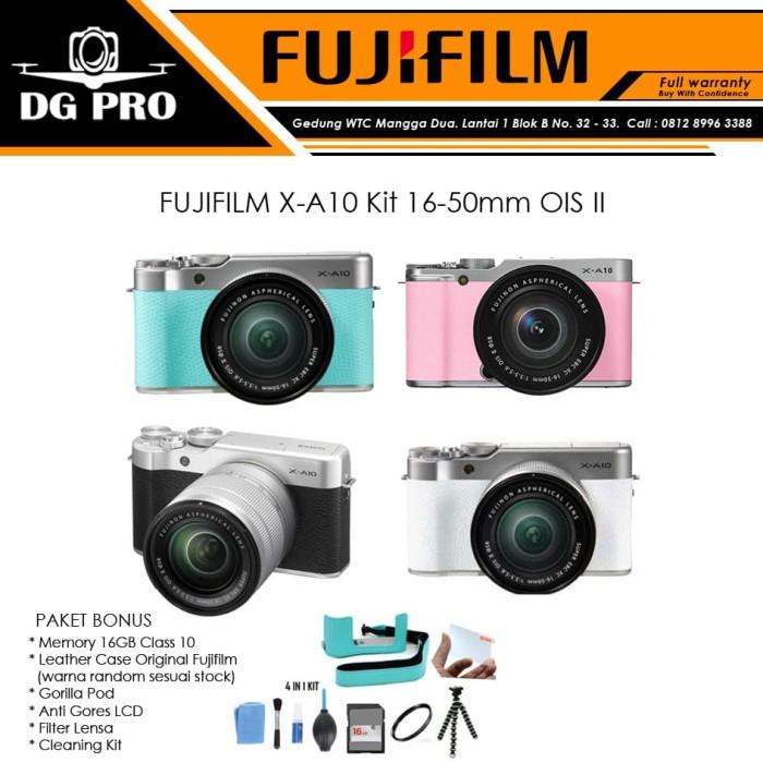 harga Fujifilm x-a10 kit 16-50mm ois ii - kamera mirrorless fuji film xa10 Tokopedia.com