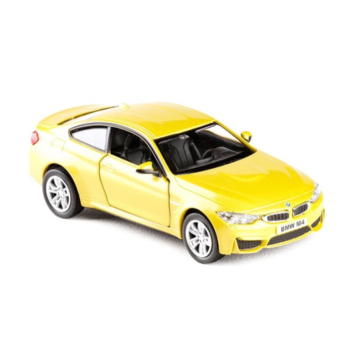 Rmz city diecast bmw m4 coupe skala 1:32 freewheel yellow