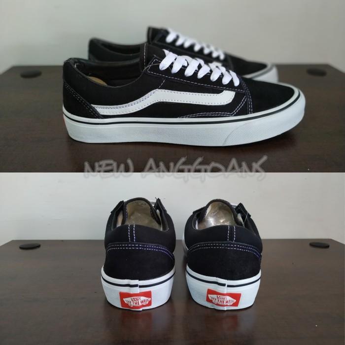 26316db8daafa7 Jual Sepatu Vans Old Skool Black White Hitam Putih Original Premium ...