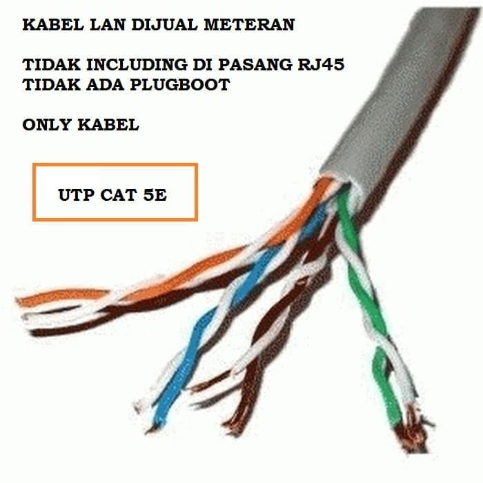 Jual Utp Cat5e Kabel Lan Utp Cat 5e Dijual Per Meteran Utp Gigabit Jakarta Utara Milkyshop79 Tokopedia
