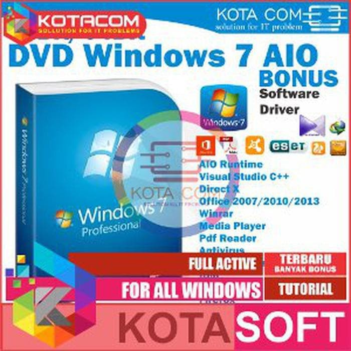 Jual Terbaru  DVD Install Ulang Windows XP 32bit SP3 Driver Software - Kota  Software | Tokopedia