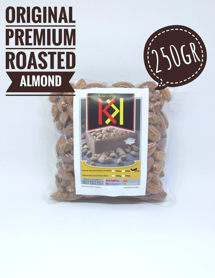 LIMITED EDITION Almond roasted Almond Panggang Blue Diamond tanpa can