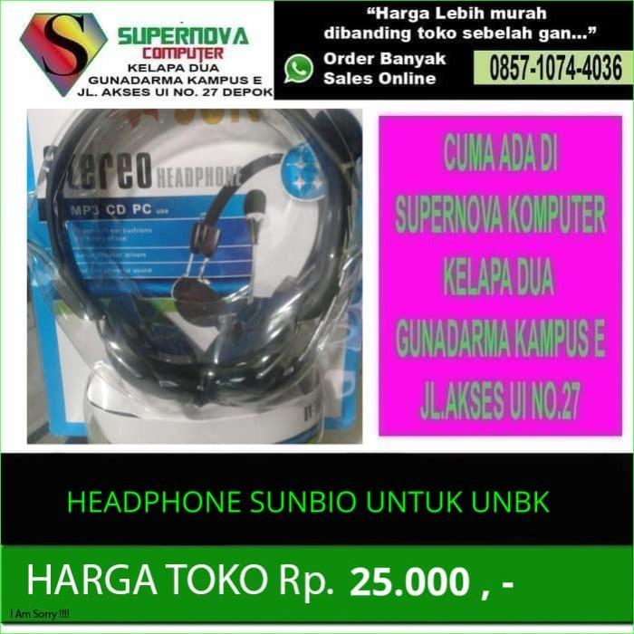 harga Headphone sunbio untuk unbk Tokopedia.com