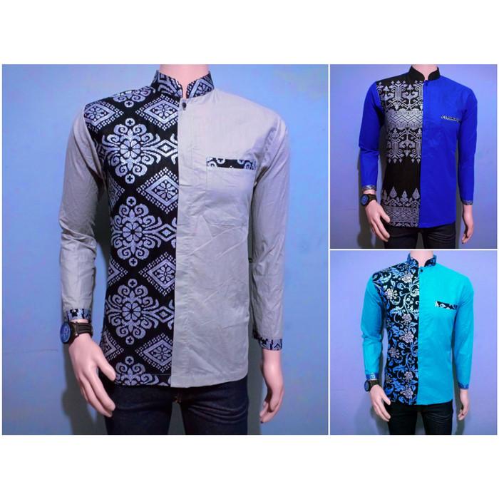 Jual Baju Batik Kemeja Batik Pria Kombinasi Prada Lengan Panjang Brj004 Kota Pekalongan Kios Abang Tokopedia