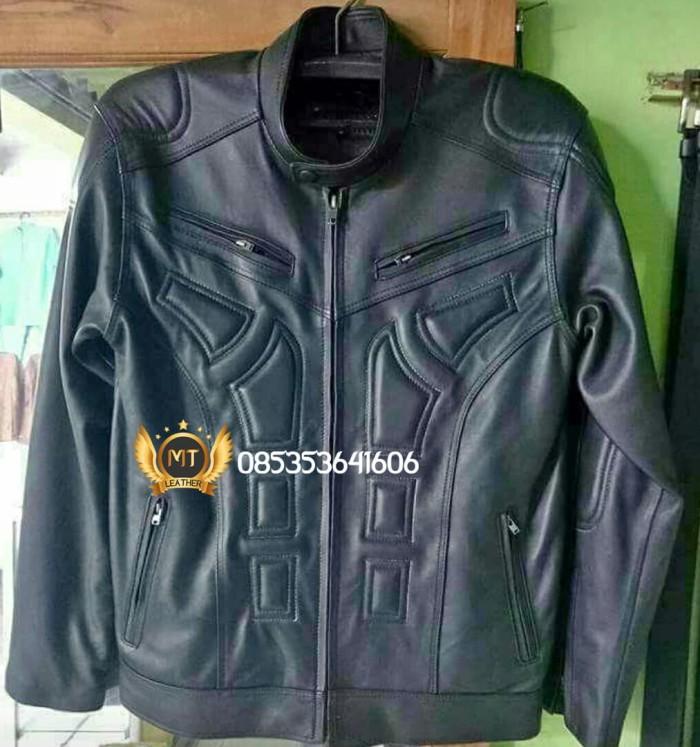 Jaket Kulit Pria 6 - Hitam, XL