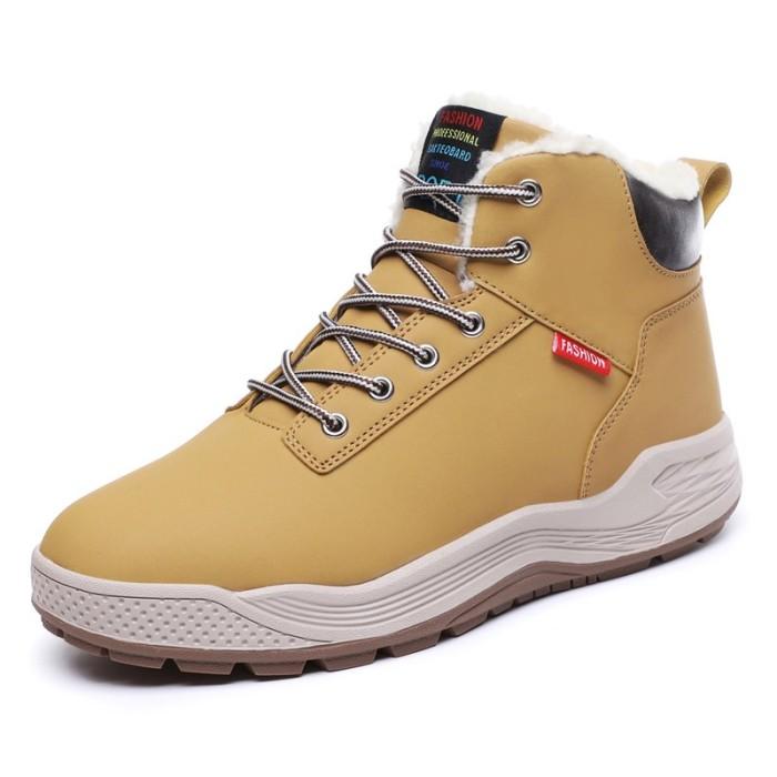f34e485fdc4348 Jual Men Winter Boot Shoes Plush Warm Snow Boots for Men Plus Size ...