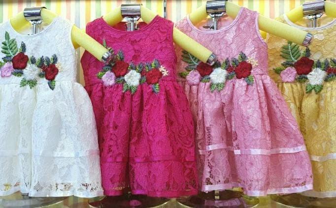 Jual Baju Dress Gaun Pesta Kondangan Anak Bayi Perempuan Brokat Bordir Kota Depok Florist Gumpee Tokopedia