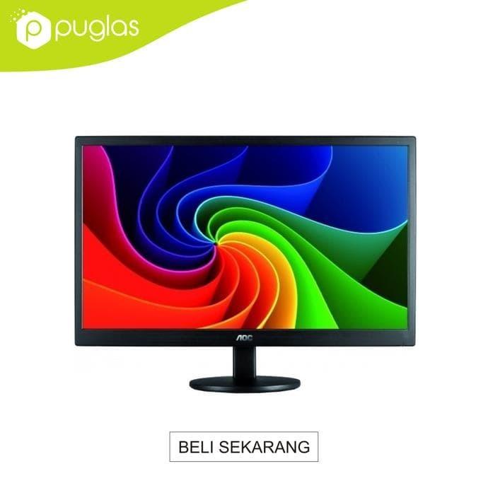 "Foto Produk best seller monitor aoc led 16"" inch e1670sw for komputer pc computer dari Achmad Aliyadinstore"