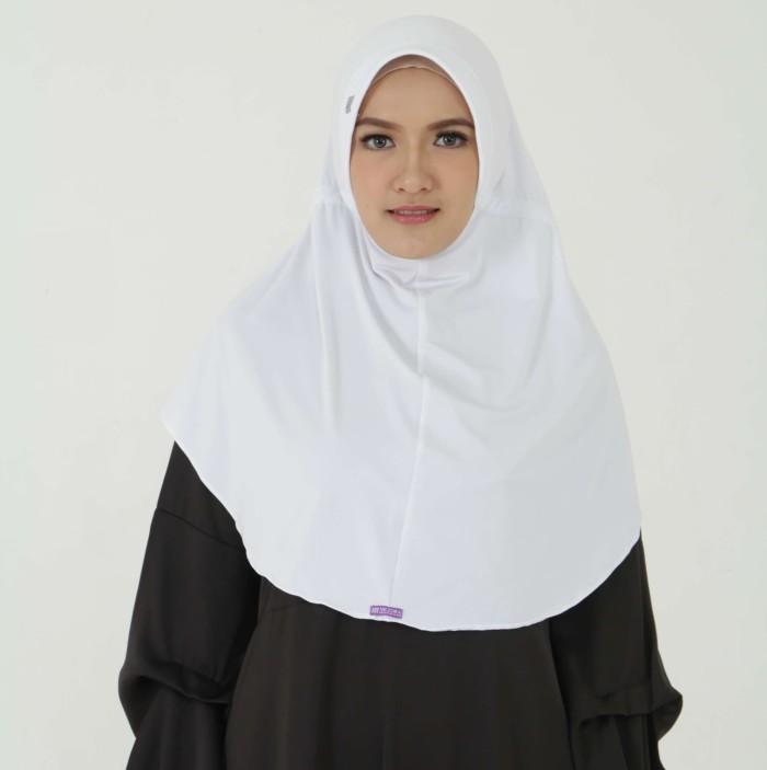 Jual Kerudung Mezora Jilbab Bergo Hijab Instan Bergo Seroja Putih Kota Bandung Twofa Tokopedia