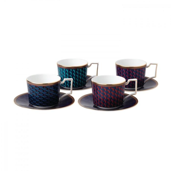 harga Byzance - teacup & saucer accent s/4 bxd Tokopedia.com