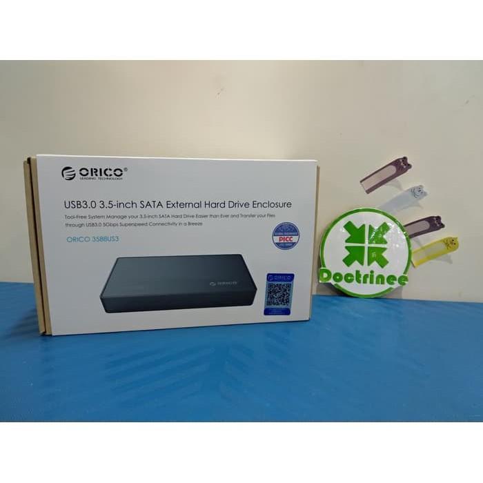 ORICO ORIGINAL 3588US3 Casing hdd 35 inch SATA USB 30 HDD Enclosure