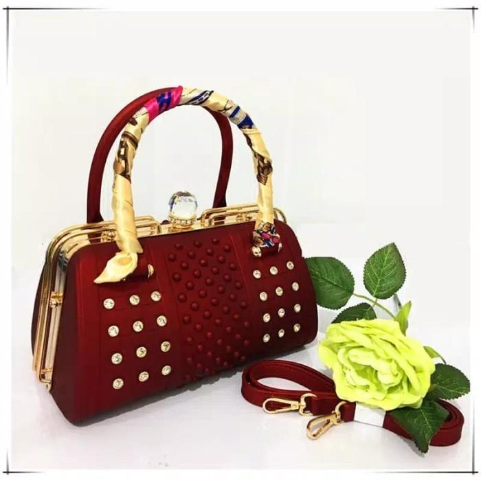 Tas Wanita Fashion Behel Catur Diamond Tas Selempang Tas Jelly Matte f047fa9e79