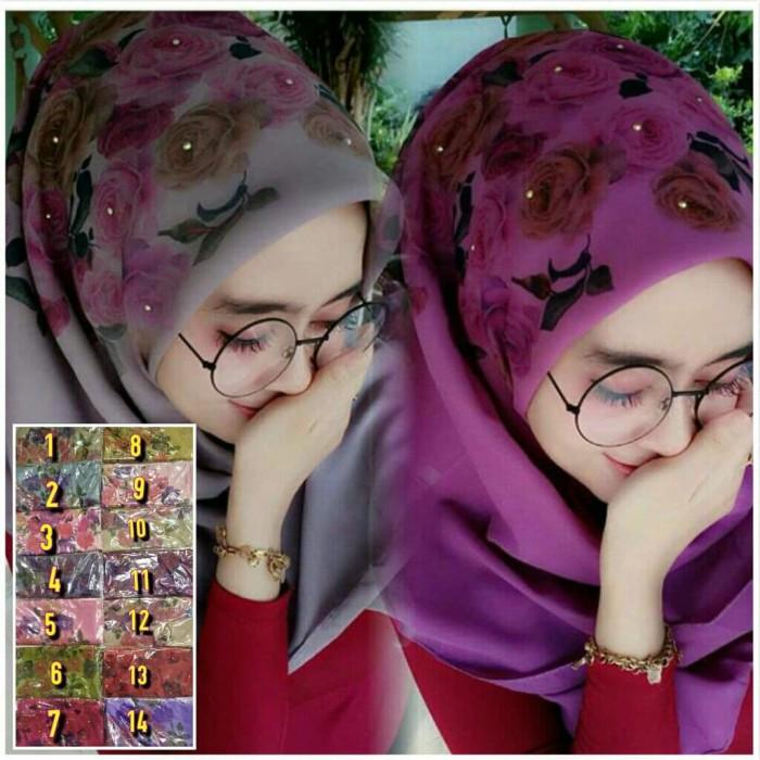 Jual Jilbab Hijab Segiempat Bella Printing Kota Surabaya Putri