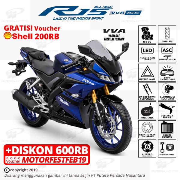 harga Yamaha r15 vva [new color] - otr banten - biru Tokopedia.com