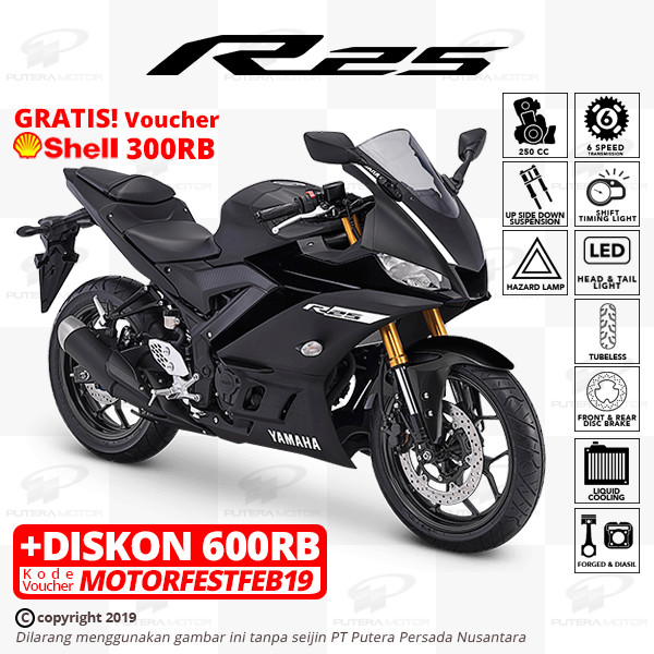 harga Yamaha r25 [new model] - otr bogor - hitam Tokopedia.com