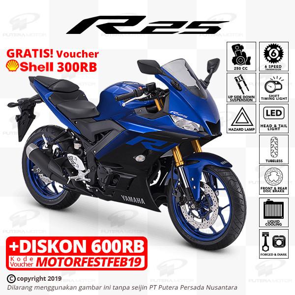 harga Yamaha r25 [new model] - otr bogor - biru Tokopedia.com