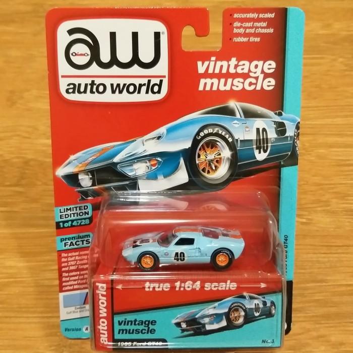 Foto Produk Diecast Auto World Vintage Muscle Ford GT40 GT 40 LM Gulf Le Mans Ori dari Hotwheels_bali