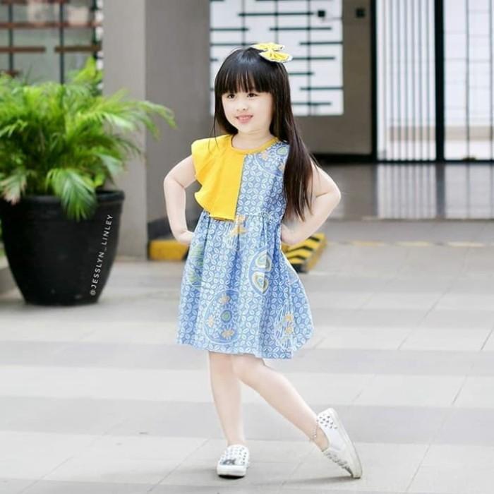Foto Baju Batik Anak Modern Jual Anggun Dress Batik Anak Batik Modern Baju Batik Anak Size 0
