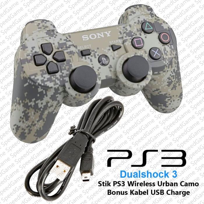 harga Stick stik ps3 wireless original pabrik army urban camo + kabel usb Tokopedia.com