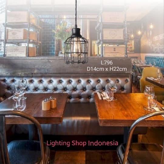 harga L796 lampu gantung hias retro sangkar burung vintage kafe tanpa edison Tokopedia.com