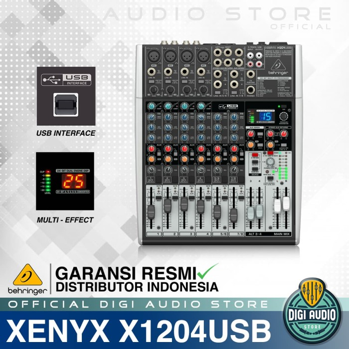 harga Audio mixer behringer xenyx x1204 usb ( x 1204 usb ) with soundcard Tokopedia.com