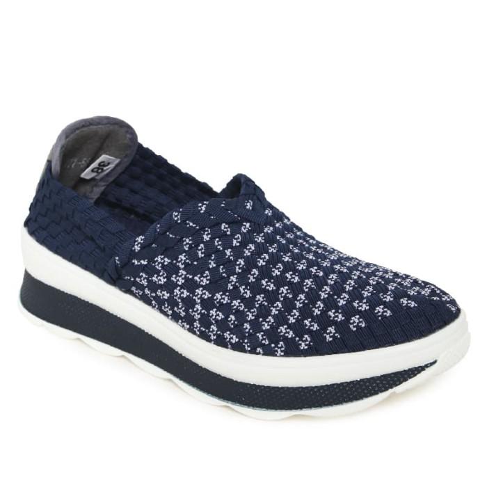 harga Pavillion sepatu anyam wanita flats 777-5686 dark blue - navy 37 Tokopedia.com