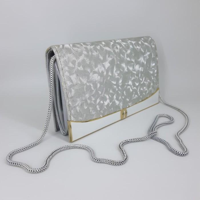 Jual Tas Pesta Wanita Cantik Elegant Warna Silver D104 - GMW Store ... 12132b40f6