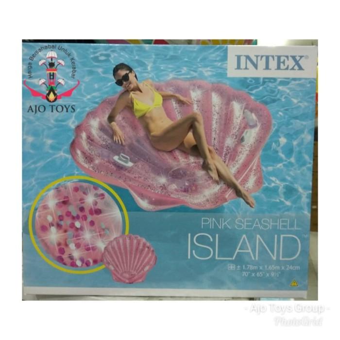 Jual kasur air bentuk kerang blink blink intex glitter shell with handle -  Jakarta Pusat - Ajo Toys   Tokopedia
