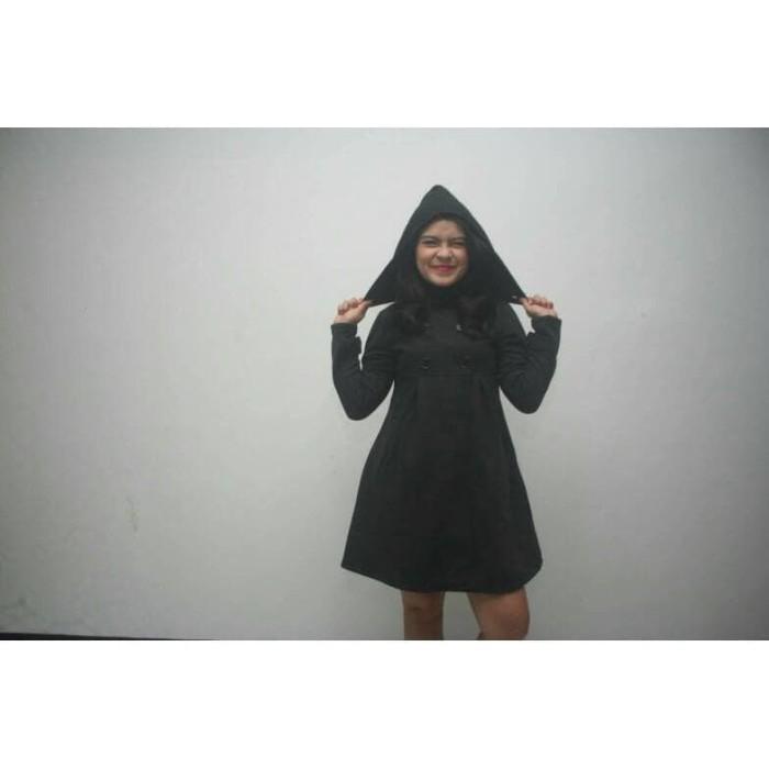 Jual Top COAT WANITA SEONGNYU BLACK - Jaket Cewek Hoodie Hitam P ... b964c05acf