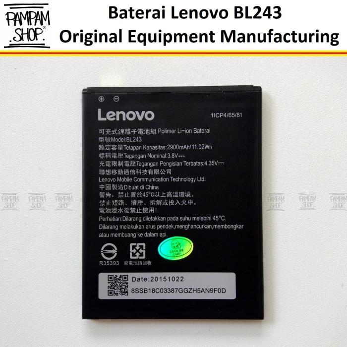 harga Baterai handphone lenovo a7000 bl243 original | bl 243 batre a 7000 Tokopedia.com