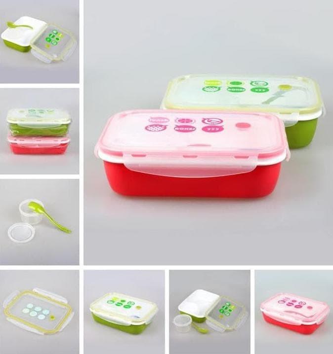 Eksklusif Lunch Box / Kotak Makan Sup Yooyee 4 Sekat / Bento / Green
