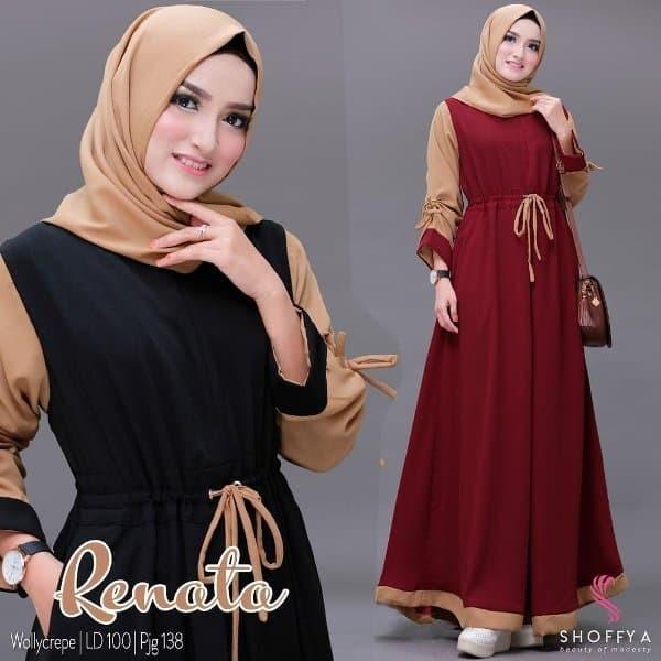 Jual LB - Gamis cantik -- Baju Gamis RENATA DRESS Baju muslim wanita ... cb1dbff160