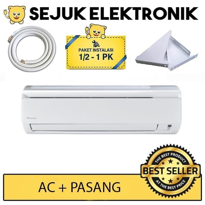 harga Daikin ftkq25svm4 + pasang 1pk 3m / ftkq25 ac split inverter putih 1pk Tokopedia.com