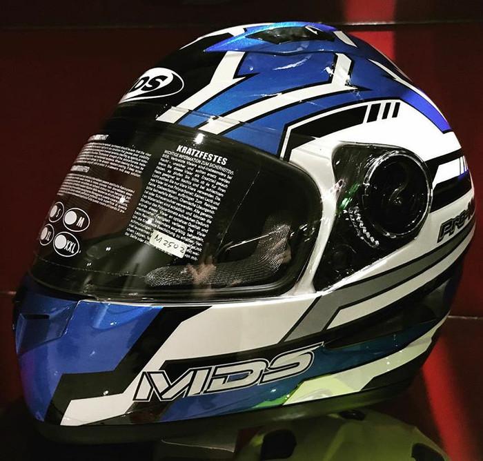harga Helm mds provent blue white full visor fullface pro-vent Tokopedia.com