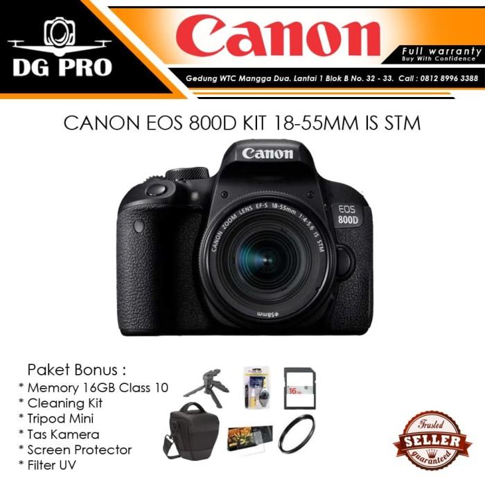 harga Canon eos 800d kit 18-55mm is stm paket - garansi canon datascrip Tokopedia.com