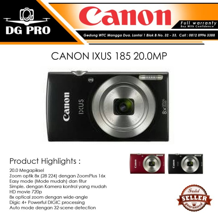 harga Canon ixus 185 - kamera pocket canon ixus 185 20 megapiksel Tokopedia.com