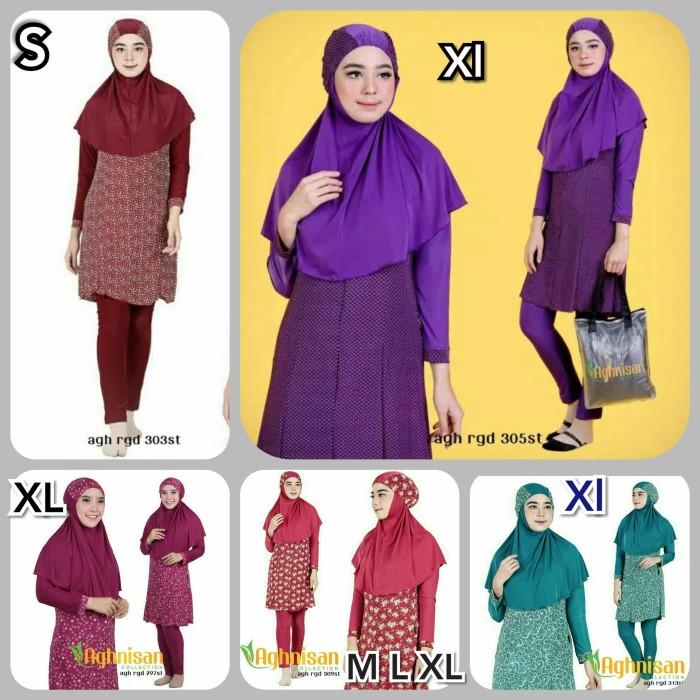 baju renang muslim dewasa aghnisan s m l xl - Chat Dulu, M