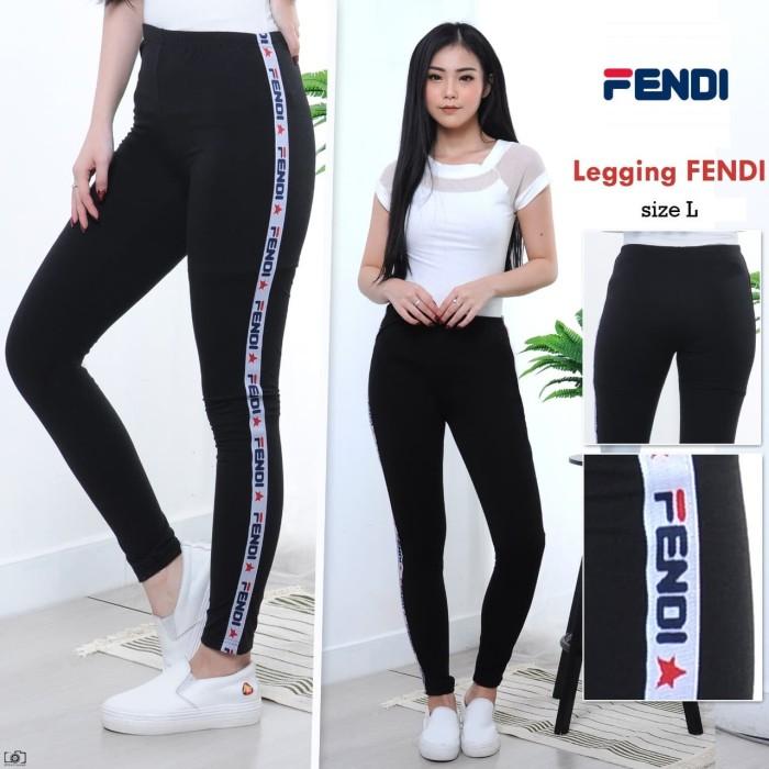 Jual Popolatos Celana Legging Fendi Bintang Fit To L Jakarta Barat Popolatos Tokopedia
