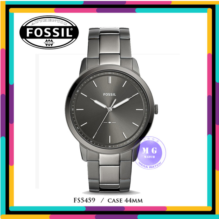 8fa4baad8896 Jam Tangan Pria Original Fossil FS5459 THE MINIMALIST THREE-HAND SMOKE