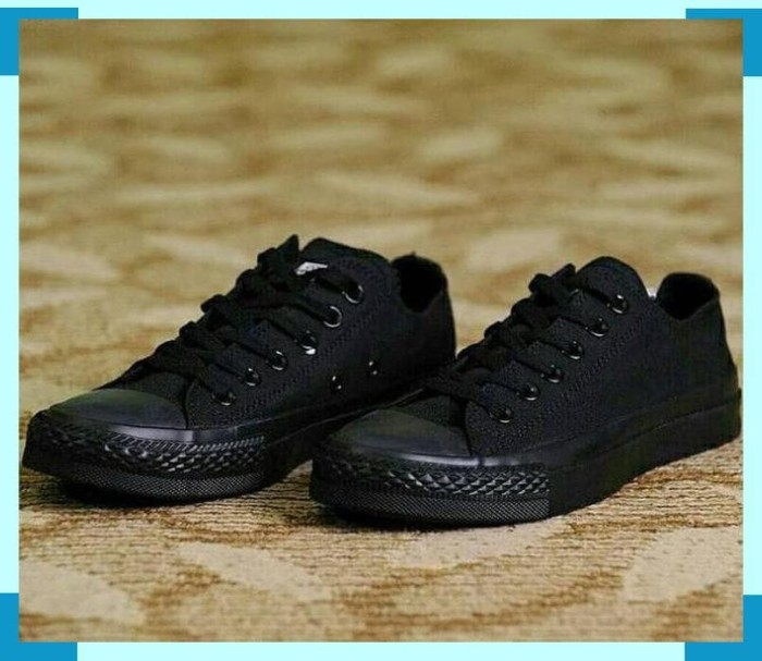 Sepatu Sekolah Anak Hitam Polos Converse