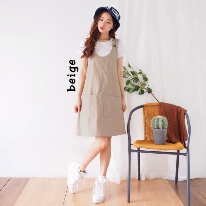 5aed85cd70 Jual Setelan Baju Kodok Jumpsuit Mini Dress Overall Korea Import ...