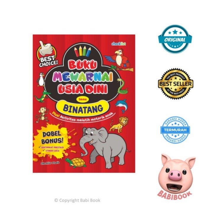 Jual Promo Buku Anak Tema Binatang Buku Mewarnai Usia Dini