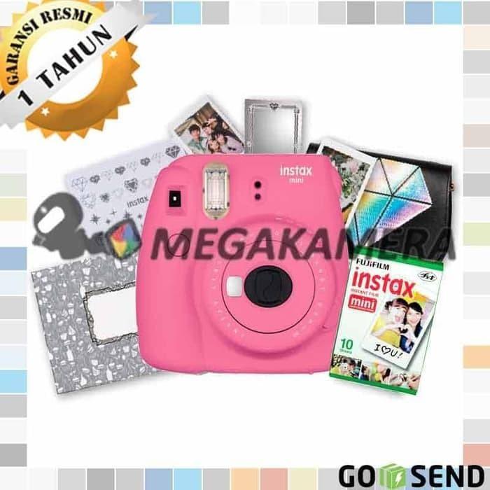 Fujifilm Instax Mini 9 Paket Ginza - Instant Kamera Package - Putih